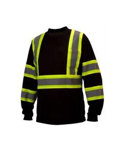 Pyramex Black Reflective Long Sleeve T-Shirt RCLTS3111 Large PYRRCLTS3111