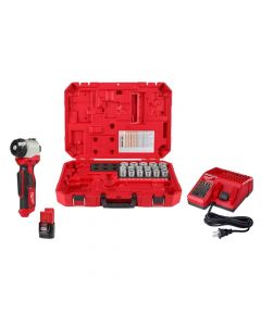 Milwaukee M12 Cable Stripper Kit with 17 Cu THHN / XHHW Bushings 2435CU-21S