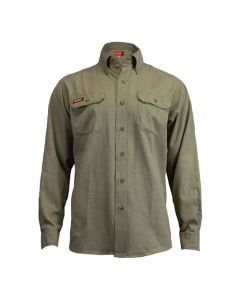 NSA Men's TecGen FR Tan Work Shirt - Small NSA-TCG01120213
