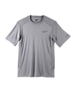 Milwaukee Workskin Lightweight Performance 2X Gray Short Sleeve Shirt 414G-2X