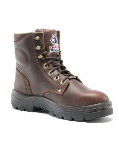 Steel Blue Men's Argyle Full-Grain Leather Safety Boots w/ Steel Toe Cap - Size 7 Medium Fit SBLUE-812952M-070-OAK