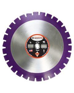 "Diamond Products Imperial Purple Asphalt Wet Blade 20 X .140"" 36823"
