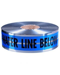 """Empire Blue Detectable Warning Tape inCaution Water Line Belowin 3"""" x 1000' 31-022"""