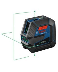 Bosch Green-Beam Self-Leveling Cross-Line Laser with Plumb Points GCL100-40G