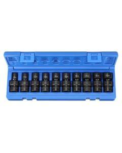 Grey Pneumatic 10 Piece 3/8 Drive Standard Length Universal Set (Metric) 1210UM