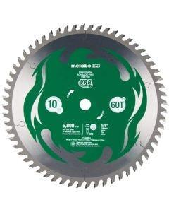 Metabo HPT 10 60-Tooth Fine Finish VPR Carbide Miter Saw Blade 115435M