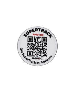 SuperTrack Tag RFID + QR Code 30mm x 1mm Rigid PVC Sticker RFQR-30PVC