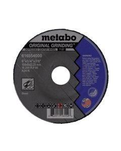 "Metabo Type 27 A24N Original Grinding Wheel 6 x 1/4"" x 7/8"" (BOX 25) 616554000"