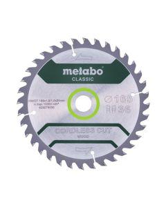 Metabo Circular Saw Blade HW/CT 165 x 20mm, 18T Classic Quality 628272000