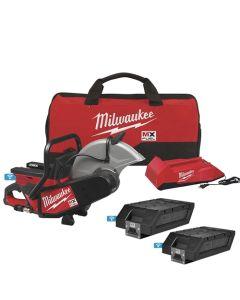 Milwaukee MX FUEL 14 Cut-Off Saw 1 Charger + 2 Battery Kit w/ One-Key MXF314-2XC