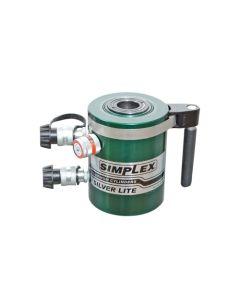 "Simplex Aluminum 100 Ton Hydraulic 10"" Double Acting Cylinder Center Hole RACD10010"