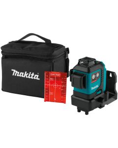 Makita 12V Max CXT Lithium-Ion Cordless Self-Leveling 360° 3-Plane Red Laser (Tool Only) SK700D
